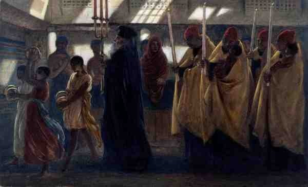 Coptic baptismal procession 1865