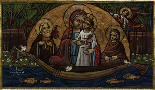 Coptic icon holy family egypt2