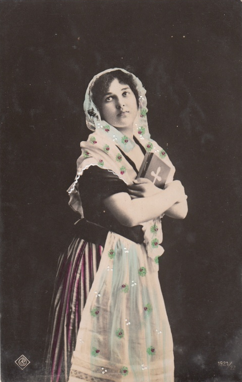 Coptic woman in postcard 1921