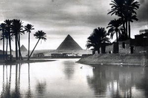 Pyramid at flood